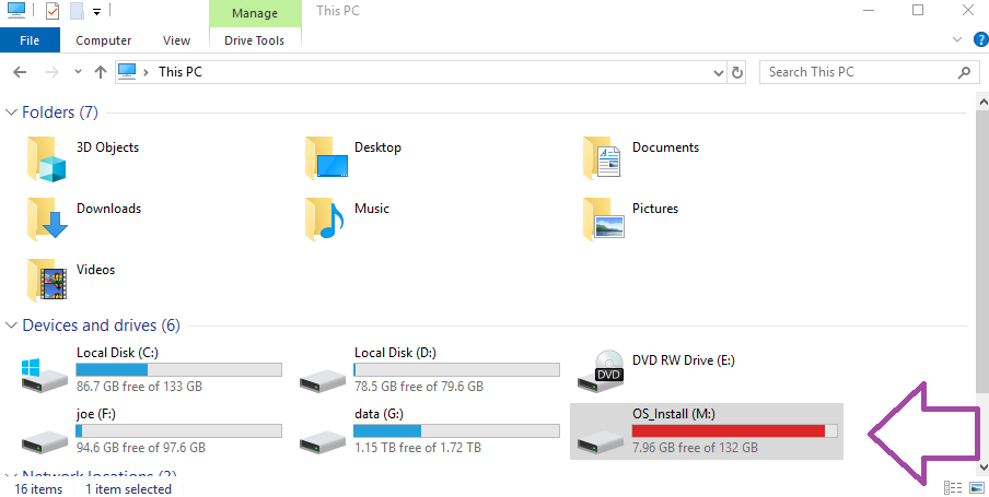 Extract files from Windows 10 Backup image - Mounting
