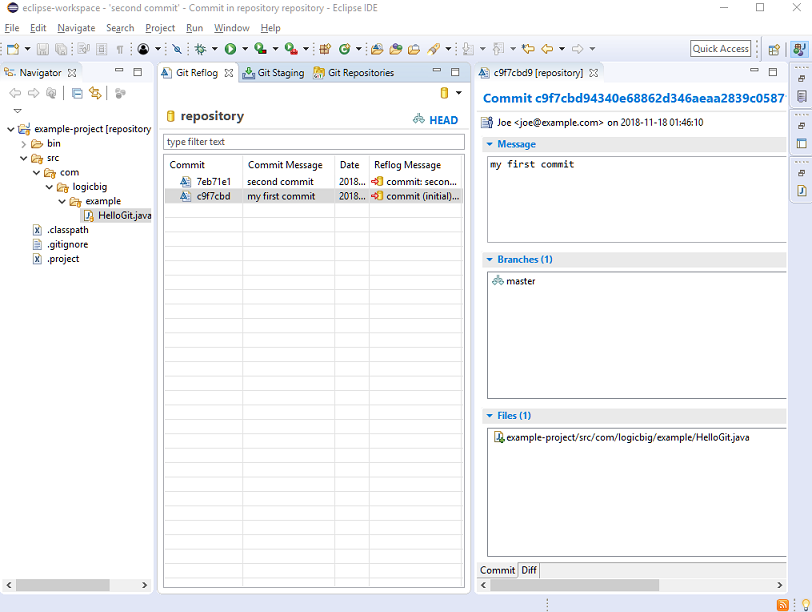 Git - Using Git in Eclipse IDE (EGit plugin)