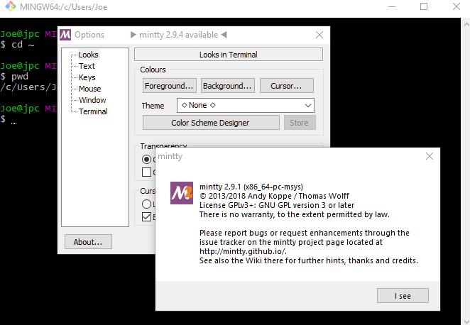 Git - Using Bash Shell for Windows