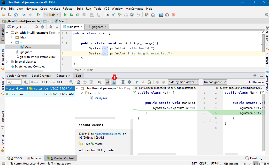Git - Using Git in Intellij IDE
