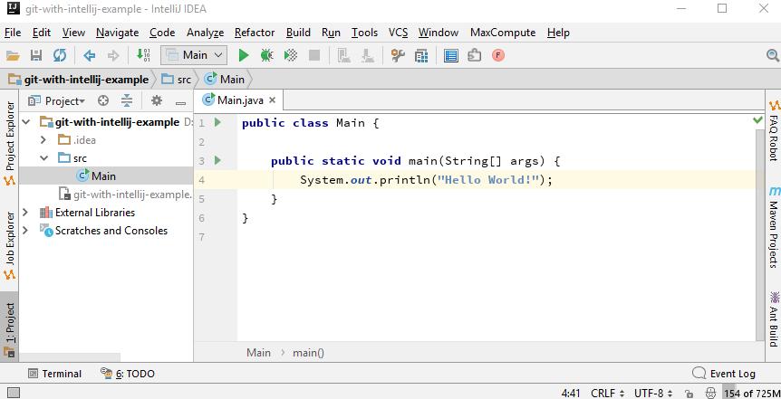 Git - Using Git in Intellij IDE