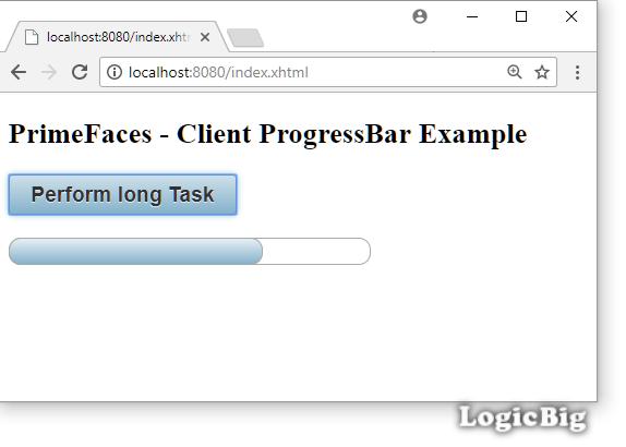 PrimeFaces - Client Side ProgressBar Example