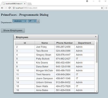 PrimeFaces - Sending Parameters via RequestContext openDialog()
