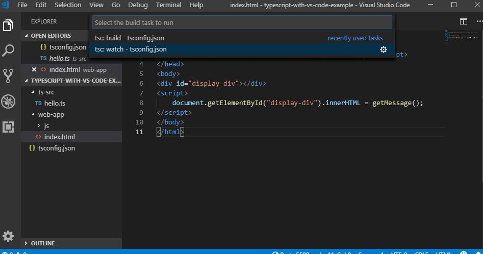 TypeScript - Developing TypeScript with Visual Studio Code IDE