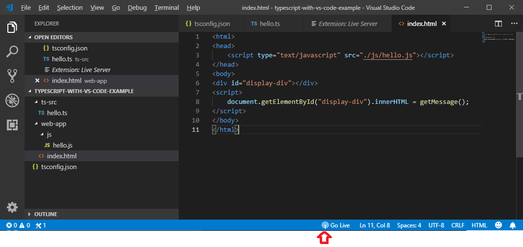 TypeScript - Developing TypeScript with Visual Studio Code IDE