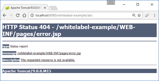 whitelabel error