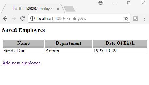 Spring Boot - MVC Form Input Validation using JSR 303/349/380 Bean