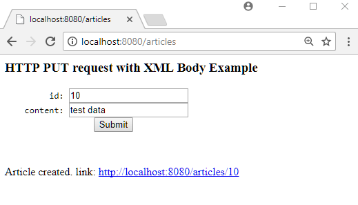 Spring MVC - Mapping XML body data of HTTP PUT request to Java Object