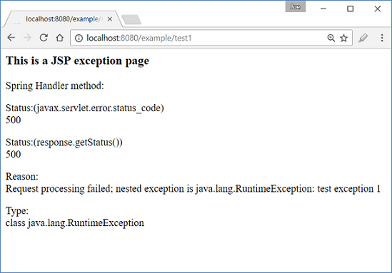 Spring MVC - Mixing web xml and Spring exception handling