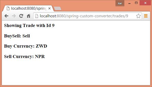 Spring MVC - Custom Converter Example